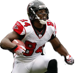 Roddy White plays the position of wide receiver for the Atlanta Falcons in the NFL and wears #84