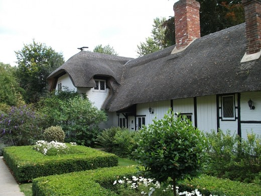 Old Thatch, as it is today. It was used as the setting for many of her fairy stories.