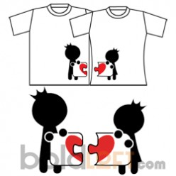 """""""Complete My Heart"""" Couple T-Shirts"""
