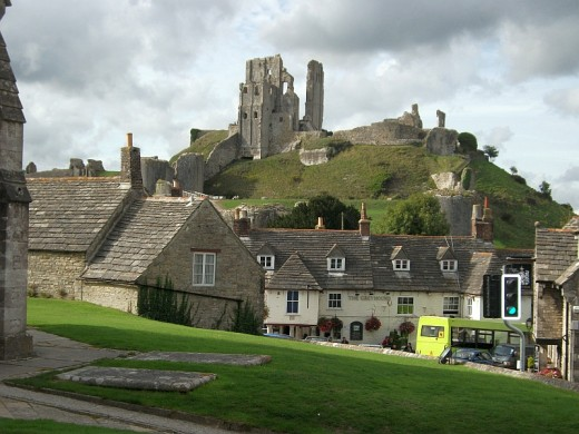 Corfe Castle ruins, said to be her inspiration for Kirrin Island.