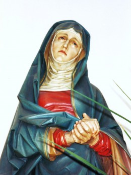 Hand carved statue of Mary