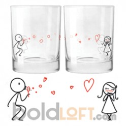 """""""From My Heart to Your"""" Drinking Glass Set"""