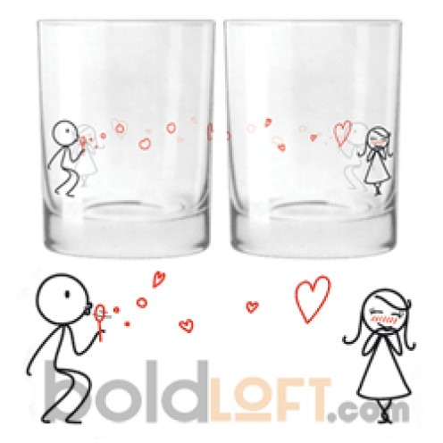 """From My Heart to Your"" Drinking Glass Set"