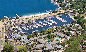 Abbey Resort aerial view of the Marina and harbor