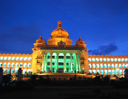 Illuminated every Sunday evening-Vidhana Soudha