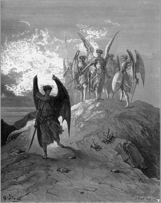 Illustration of John Miltons Paradise Lost by Gustave Dor, 1866
