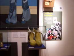 Billy Connelly's big banana boots