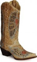 Corral Angel Wing Heart Cowboy Boots.