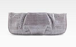 Nancy Gonzalez Silver Clutch Bag