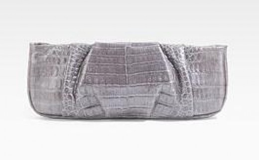 Nancy Gonzalez Silver Clutch Bag