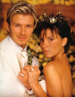 David and Victoria Beckham wedding day