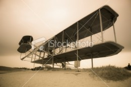 The first heavier than air flight occurred when the Wright Brothers flew their biplane at Kitty-hawk.
