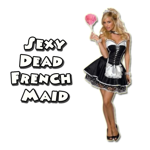 Dress this Maid costume up with blood and it's ideal for a Sexy Halloween costume.