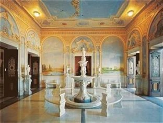 Inside View of beautiful taj falaknuma palace in hyderabad