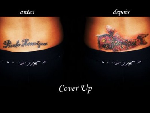 Another creative way of getting rid of a tattoo, is to cover it up.