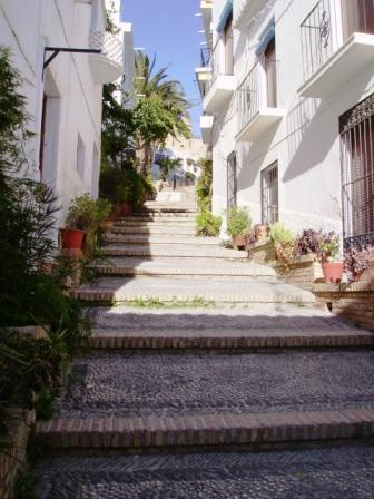 Stairs, in the old part of Salobrena, leading to the Castle
