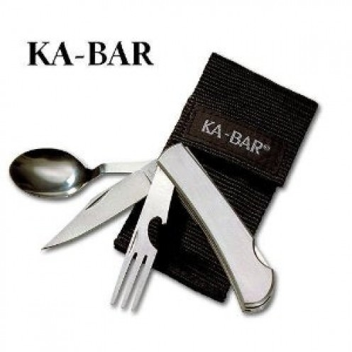 Hobo Fork/Knife/Spoon Diner Set, With Ballistic Sheath