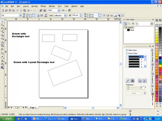 how to offset line in corel draw