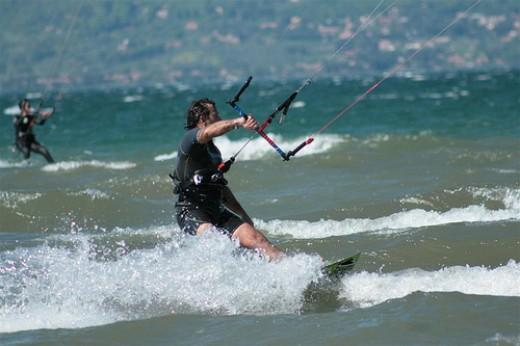 Kitesurfer.     Photo by: funkoolow