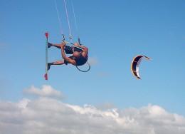 Kitesurfing.    Photo by: