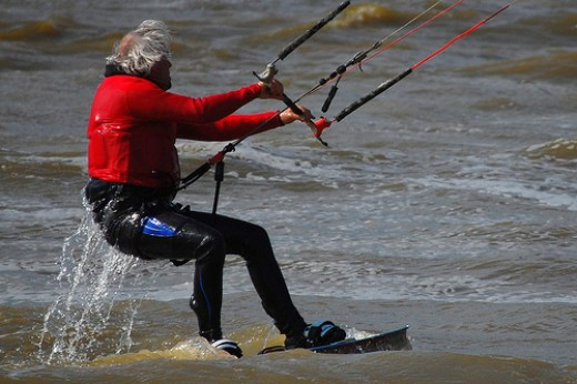 Kitesurfing.   Photo by: Simon Blackley