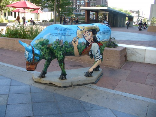 "The flipside of the famous ""Denver Cow""."