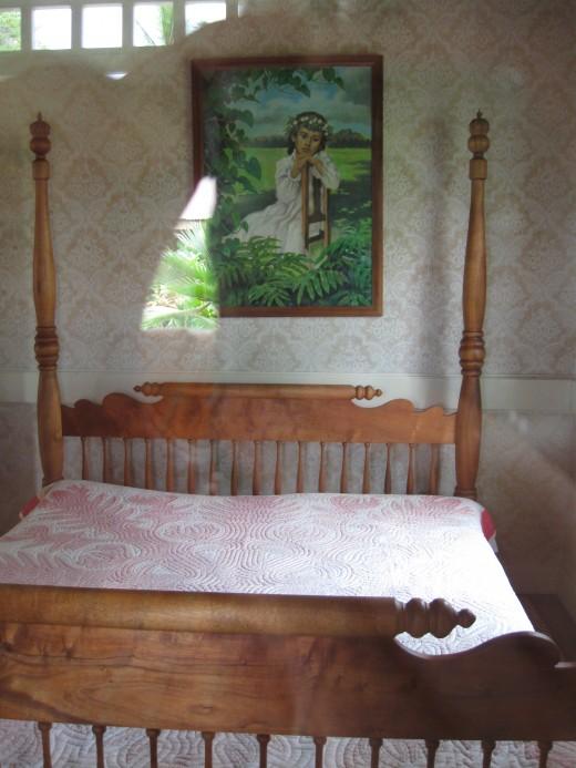 Bedroom in Beach Cottage of Hawaiis King David Kalkaua