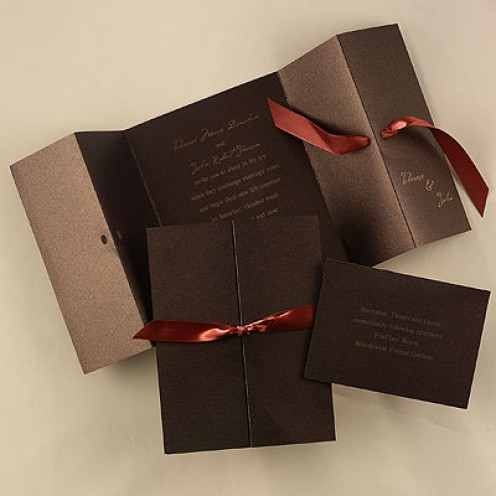 Fall Wedding Invitations Can Set The Tone For The Ceremony
