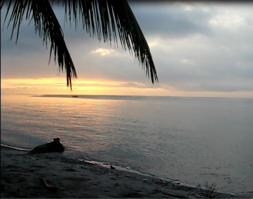 Sunrise over Sarangani Bay taken @ Maharlika Beach Resort
