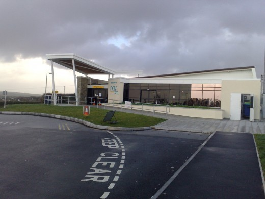 Flights to Newquay Airport, Cornwall: Newquay Airport Terminal.