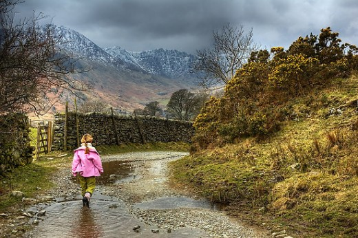 "Photograph by Jason Connolly, from redbubble.com. Titled: ""The Little Girl Along the Lane"". Location: Elterwater, Cumbria. Photo taken by Jason's wife."