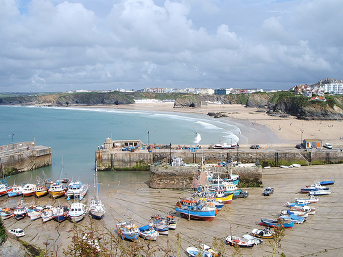 Panoramic View of Newquay Harbour.   Photo by: Pengannel