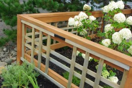 A wood fence makes an excellent garden Fence