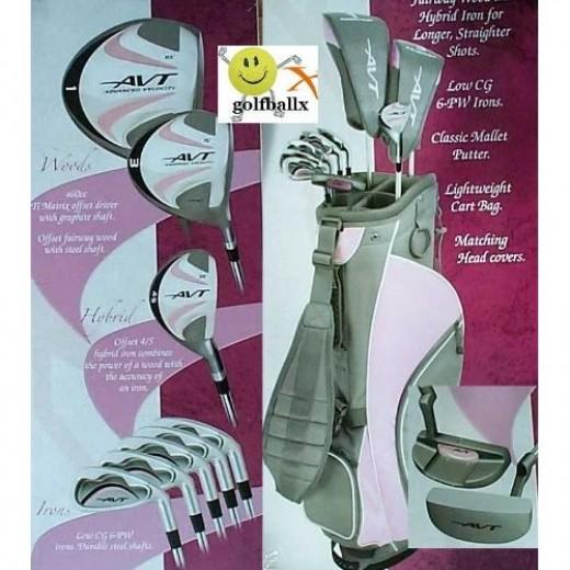 Affinity Ladies Avt Pink Golf Club Set W/bag &Free Putter Regular Length
