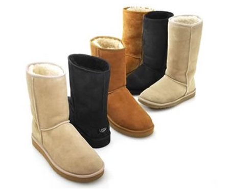 UGG Boots in the classic shades of tan, brown and black.