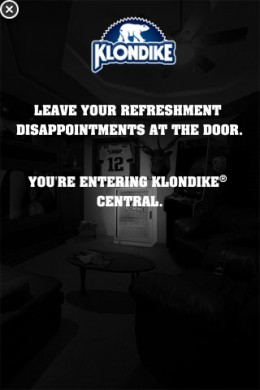The second screen on the klondike iPhone ad