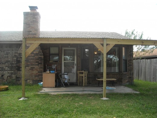 Metal Roof Patio Cover Build