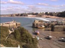 Newquay Webcams and Surf Webcams in Newquay.  Harbour Hotel Webcam, Newquay.