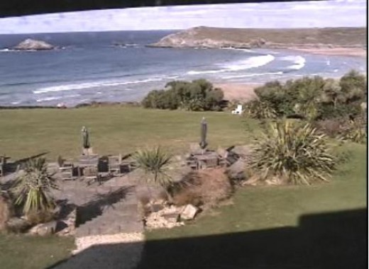 Newquay Webcams and Surf Webcams in Newquay. Crantock Beach, from Crantock Bay Hotel Webcam, Newquay.