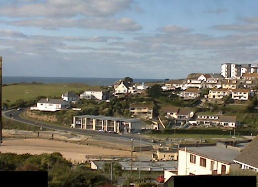 Cam 3: Porth Beach and Up the Hill.