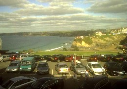 Newquay Webcams and Surf Webcams in Newquay.  Dudes Barbers, Newquay Island Webcam.