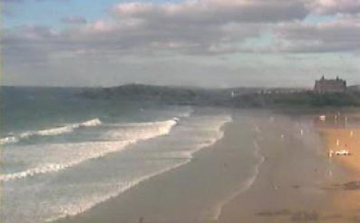 Newquay Webcams and Surf Webcams in Newquay.  Fistral Beach Surf Webcam.