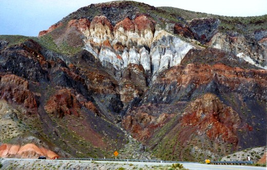 Fantastic rock colors in Death Valley!