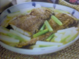 Braised Croaker Fish with Radish
