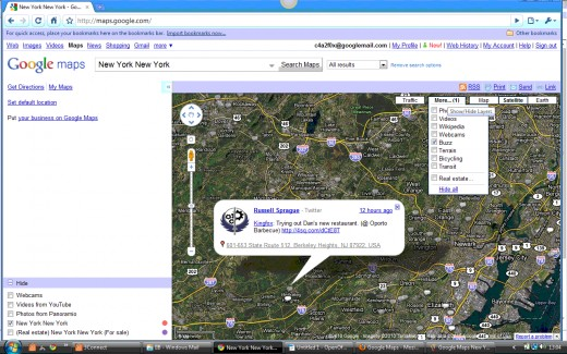 Google Maps Marker for Buzz Layer
