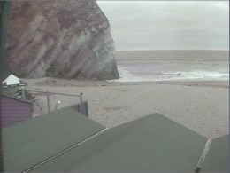 Newquay Webcams and Surf Webcams in Newquay.  Lusty Glaze Beach Webcam, South View