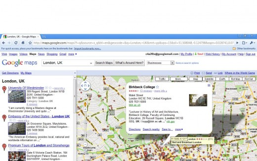 Google Infowindow for Business Marker