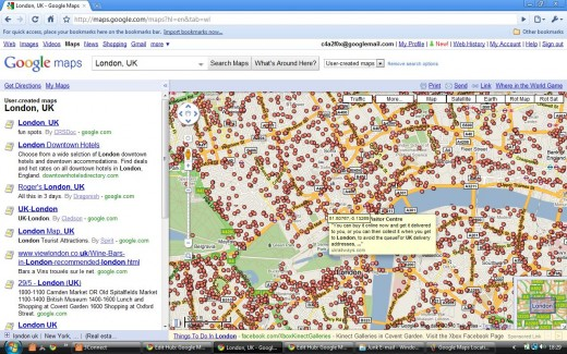 Google Map Infowindow for User-Created Map