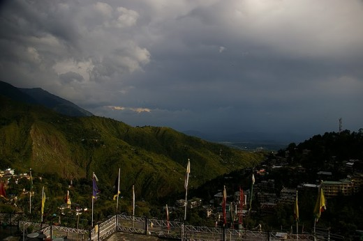 Mcleodganj from a hotel's terrace