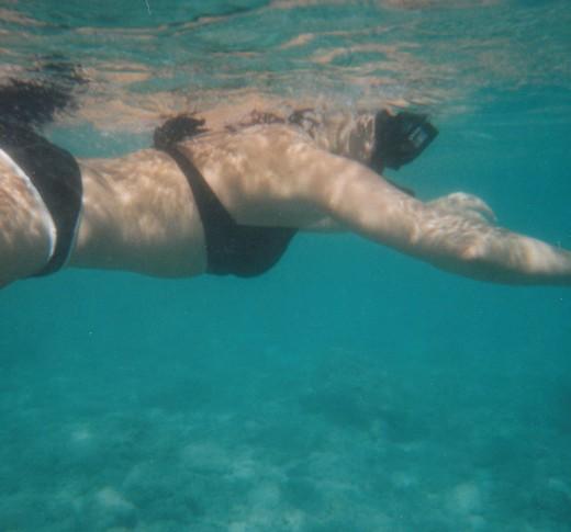 Me, snorkeling